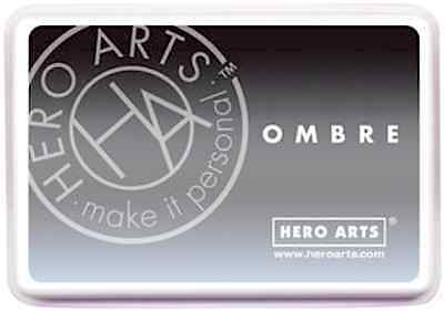 Hero Arts Make It Personal Ombre Ink Pad ~Grey To Black Code Af307