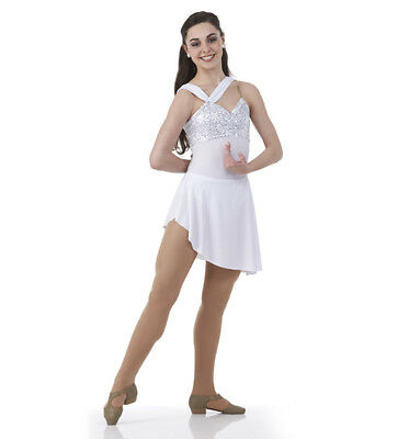 Child 6X7 Lyrical Ballet Dance Costume Dress GIVE ME A REASON White New