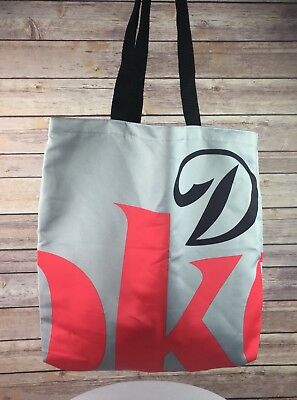 "Coca Cola Forever Diet Coke Tote Bag Silver Red 16"" X 15"" Handle Drop 12"""