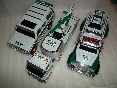 2004 Hess Gasoline w/ Motorcycles 2006 Semi Truck with Helicopter 2011 Race Car