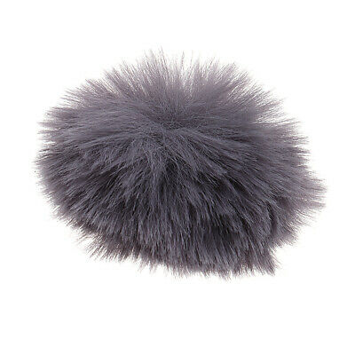 Gray Fur Windscreen Windshield Wind Muff for Lavalier Lapel Microphone Parts
