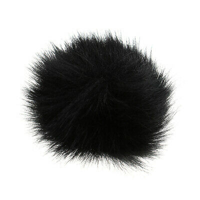 Furry Outdoor Microphone Windscreen Wind Muff for Lapel Microphone Black