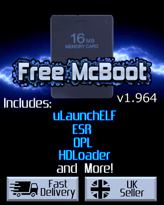 Free MCBoot 1.953 FMCB - Playstation 2 - 16MB Memory Card (ESR, HDL, OPL, MORE)