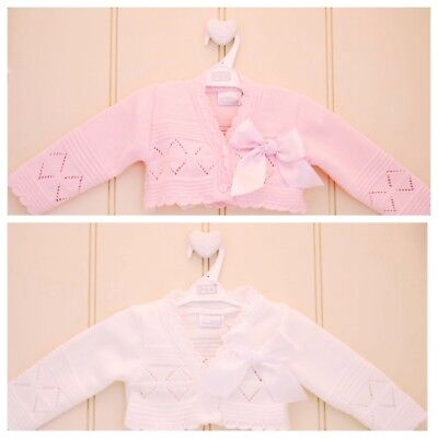 d8e8c0970 BABY GIRL BOW bolero cardigan Spanish Romany style christening party ...