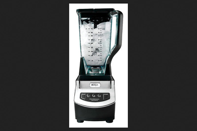 Ninja Brushed Chrome Black Premium Blender 72 oz. 3 speed