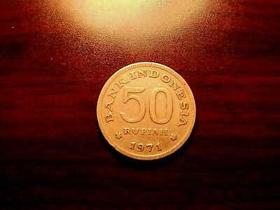 1971 Indonesia 50 Pupiah  ***free Shipping***