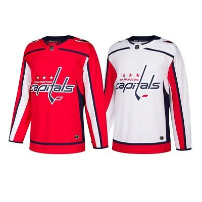 2017-18 Washington Capitals Adidas Authentic On-Ice Climacool Jersey Men s d4bc472ce