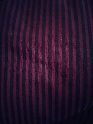 Mens Black and Burgundy Large Chef Pants