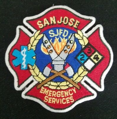 SAN JOSE, CA - SJFD EMERGENCY SERVICES EMT MEDIC FIREFIGHTER Patch Fire Dept