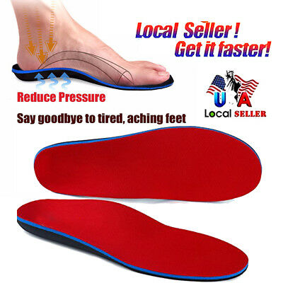 3f50b0ee57 CFR Orthotic Flat Feet Foot High Arch Gel Heel Support Shoe Inserts Insoles  Pads