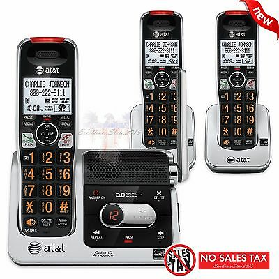 AT&T CRL82312 DECT 6.0 Phone Answering System with Caller ID/Call Waiting 3 C...