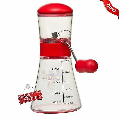 Professional Kitchen Hand Cranking Nut Chopper Bean Spice Grinder Restaurant New