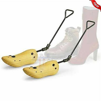 Boot Stretcher Women's Wood Shaper Western Cowboy Adjustable Bunions Corns Pair
