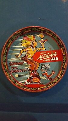 Rare Narragansett Lager Ale Dr. Seuss Beer Tray Tin Advertising Good Condition