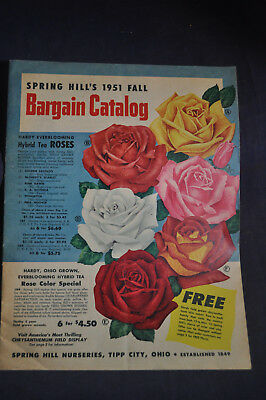Fall 1951 Spring Hill's Catalog Tipp City, Ohio *ROSES*TULIPS*FRUIT*