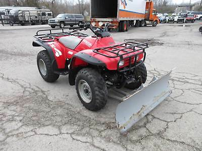 1995 honda trx 300 4x4 utility atv w manual lift snow plow rh picclick com