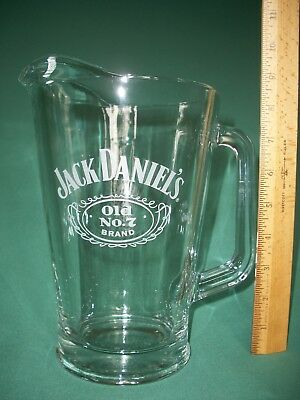 JACK DANIELS OLD No. 7 BRAND Logo Heavy Glass Pitcher
