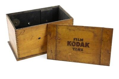 Vintage Kodak Wooden Film Developing Tank Dovetail Wood Camera Box Photography