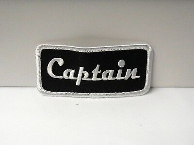 """Classic """"  Captain    """"   Sew Or Iron On Patch 3-1/2"""" W X 1-1/2"""" T"""