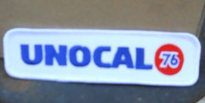 """Vintage Unocal  76  5-1/2"""" W By 1-1/2""""  H  Sew On Patch"""