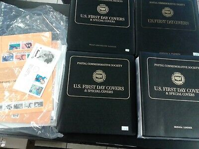169 First Day Issue Covers w/ Stamps 4 binders + 109 New Pgs No Stamps = 278