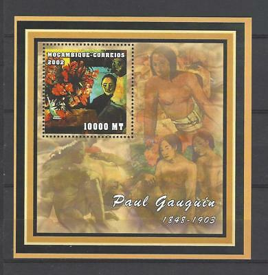 Mozambique 2002  Paul Gauguin's Painting 'Flowers of France' Type MNH S/S