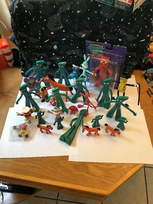 Vintage lot Jesco Gumby Pokey Rubber Bendable figures Pink Panther Etc
