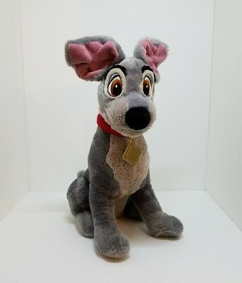"""DISNEY STORE Lady and The Tramp SCAMP 16"""" Large Plush Stuffed Animal Toy"""