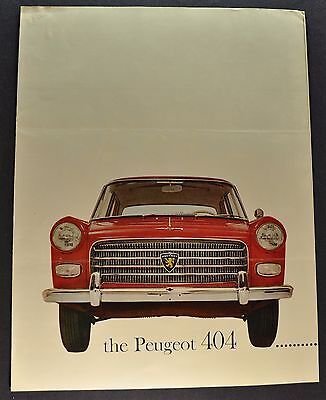 1961 Peugeot 404 Sedan Sales Brochure Folder Original 61