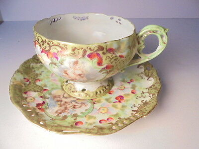 Rare Tea Cup & Saucer / Ultimate Collectors Dream Set / Painted Stunning Artwork