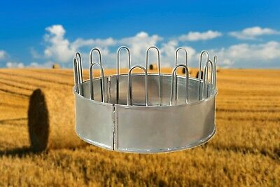 Round Bale Hay Rack Feeder - HEAVY DUTY - Horse, Cattle, Livestock. 3 - Piece