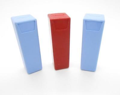 Tupperware Handy Keeper Lot Of 3 Chewing Gum Mint Travel Holders Red & Blue