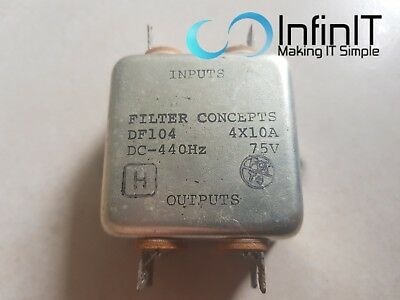 Filter Concepts DF104 4x10A Radio Frequency Interference EMI Filter