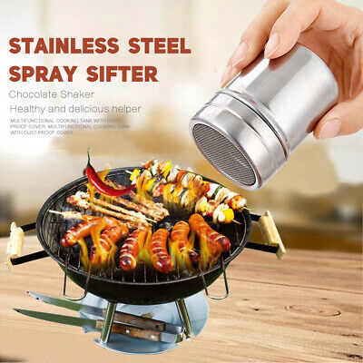 Stainless Steel Chocolate Cocoa Flour Shaker Icing Sugar Powder Coffee Duster