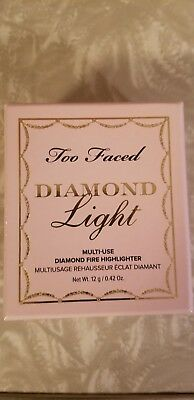 Too Faced Diamond Fire Light Highlighter Crushed  Powder Rainbow Pearl Bnib