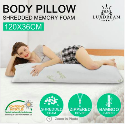 120cm Luxdream Memory Foam Body Pillow Support Long Pillow Bamboo fabric cover