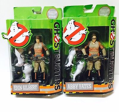 "NEW 6"" Ghostbusters Abby Yates & Erin Gilbert Action Figure Toy Lot of 2"