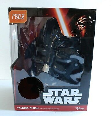 "Star Wars Talking Plush Darth Vader 15"" Plush Toy New In Box Disney"