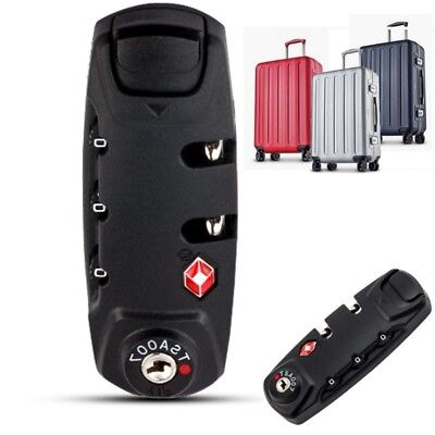 TSA Resettable 3 Digit Combination Lock Travel Luggage Suitcase Code Padlock 1PC
