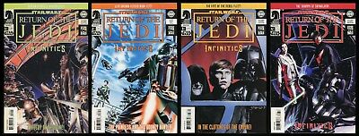 Star Wars Infinities Return of the Jedi Comic Set 1-2-3-4 Lot What if ROTJ story
