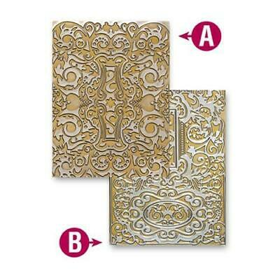 Spellbinders M-Bossabilities Embossing Folders Decorative Fancy Tags Two EL-034