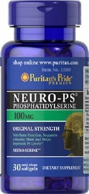 Neuro-PS (Phosphatidylserine) 100 mg, 30 softgels, Benefits for the brain AU