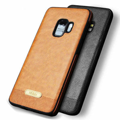 Phone Case TPU Genuine Real Leather Covers For Samsung Galaxy S8 S9 Edge S7 S6