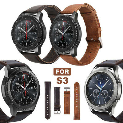 Genuine Leather Replacement Band Strap for Samsung Gear S3 Frontier Classic UK