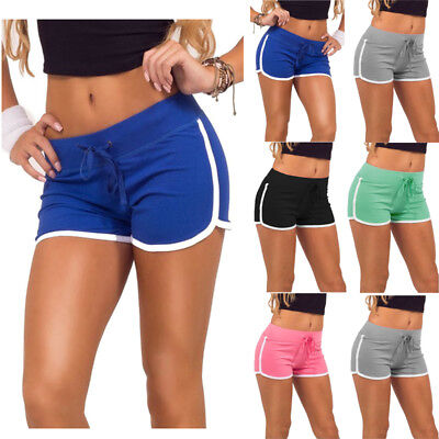 USA Womens Sports Shorts Casual Ladies Beach Summer Running Gym Yoga Hot Pants