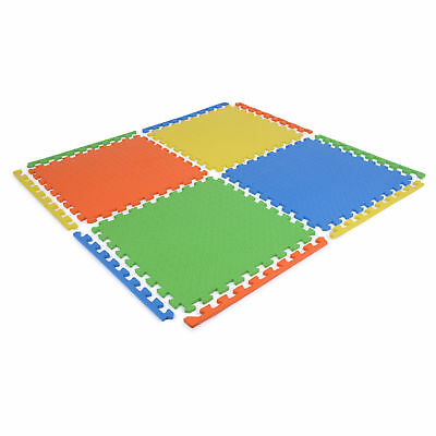 Soft Eva Foam Floor Play mats Interlocking Tiles Children Kids Nursery Puzzle