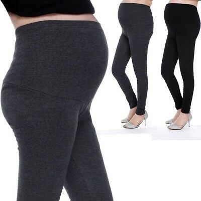 Black Pregnant Women's Leggings Comfortable Casual High Elasticity Cotton Pant