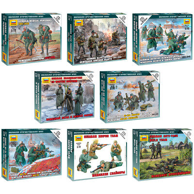 """ZVEZDA Model Kits """"German Soldiers of Land Army 1941-1945 WWII"""" Part #2"""