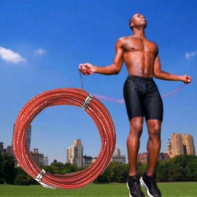3 meters Fitness Crossfit Wire Cable Speed Jump Ropes Skipping Rope Steel Wire #