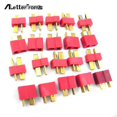 NEW 10 pairs T Plug Male Female Connector Deans Lipo Battery ESC RC Helicopter